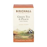 Herbata Birchall Green Tea & Peach - zielona, 25 kopert